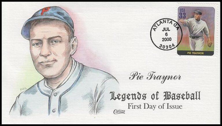 Pie Traynor, Legends of Baseball FDC