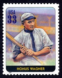 Honus Wagner, Legends of Baseball U.S. Postage Stamp – 33¢