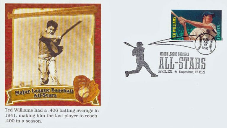 Ted Williams, U.S. Postage Stamp FDC
