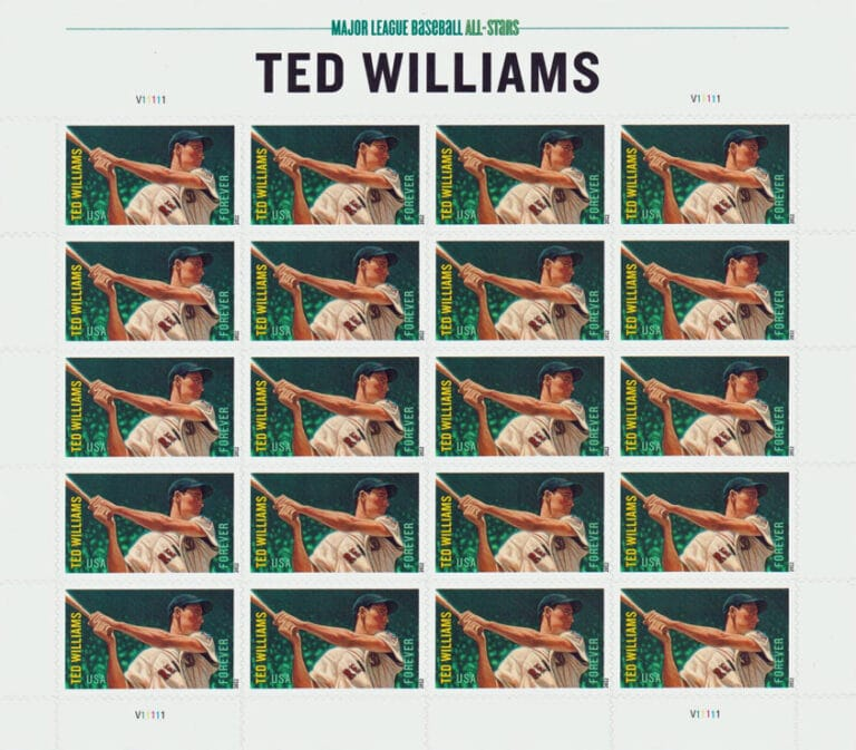 Ted Williams, U.S. Postage Stamp Sheet