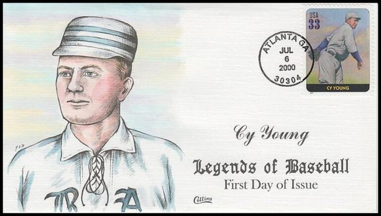 Cy Young, Legends of Baseball FDC