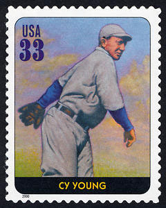 Cy Young, Legends of Baseball U.S. Postage Stamp – 33¢