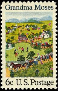 Grandma Moses Baseball Stamp Art - Twitter