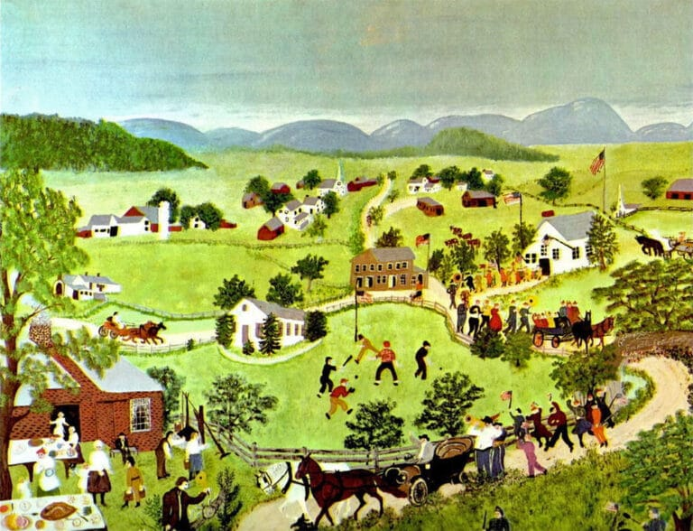 Grandma Moses, Fourth of July painting