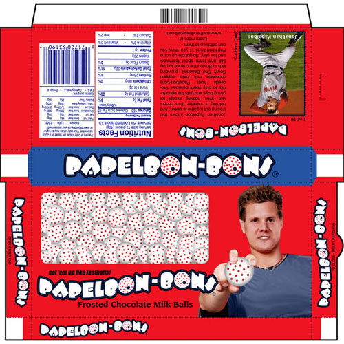Jonathan Papelbon-Bons, Frosted Chocolate Milk Balls Candy by Charity Hop