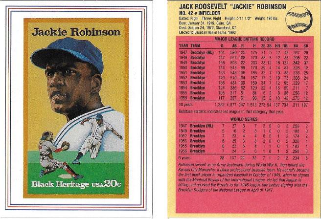 USPS Jackie Robinson Postage Stamp Baseball Card