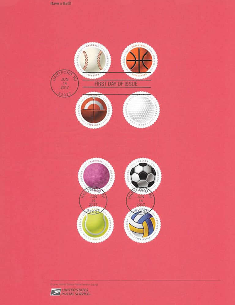 Have a Ball! – American Commemorative Cancellations (postage stamp side)