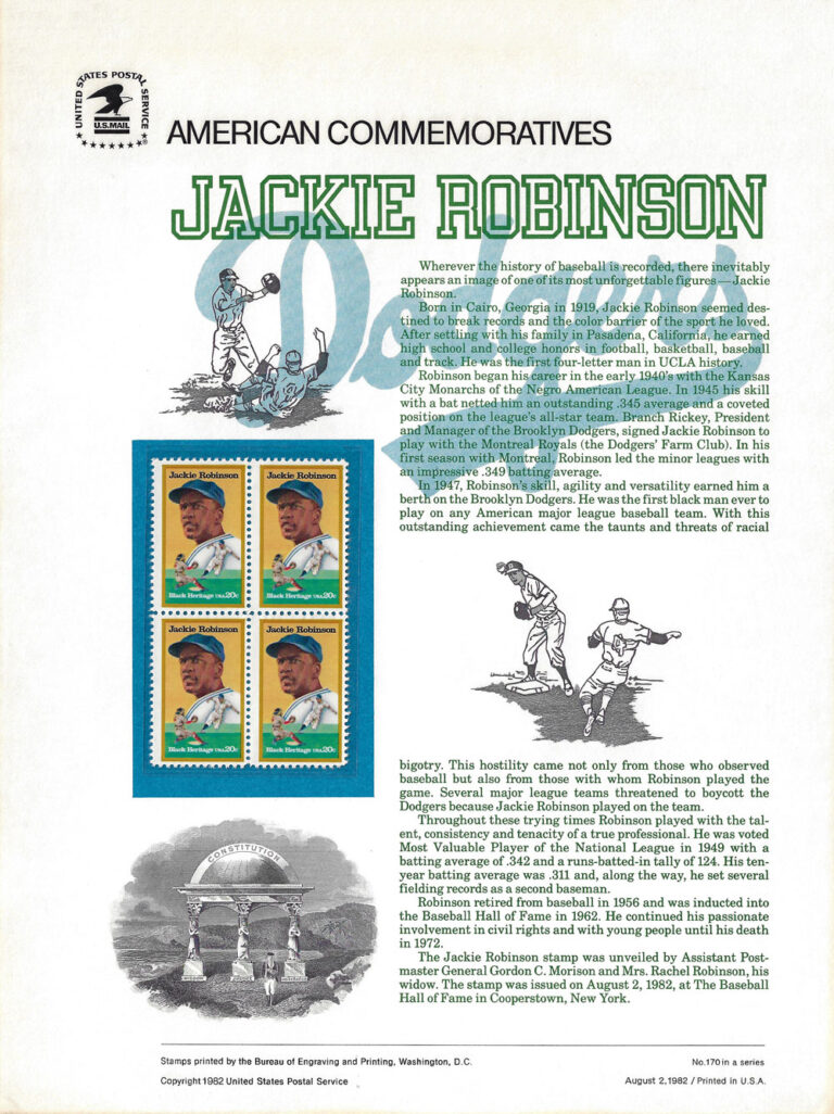 Jackie Robinson American Commemoratives Stamps