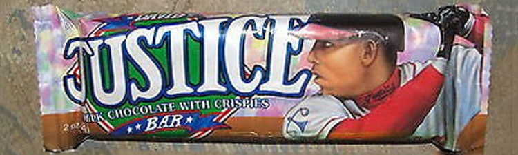 David Justice Chocolate Candy Bar by Morley