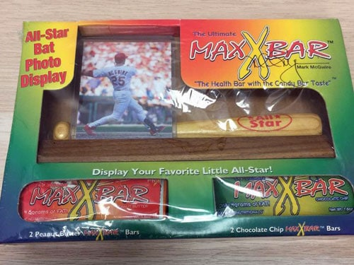 Mark McGwire – Max X Bar Peanut Butter & Chocolate Chip Bars