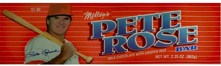 Pete Rose – Chocolate Candy Bar by Malley's