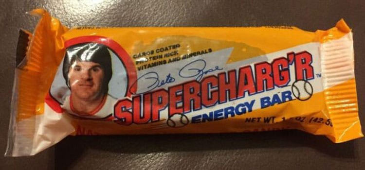 Pete Rose – Supercharg'r Energy Bar by Nutrisciences