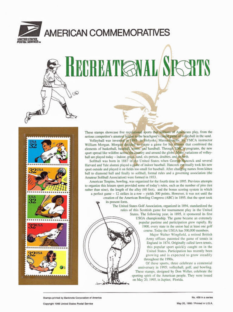 Recreational Sports American Commemoratives Stamps