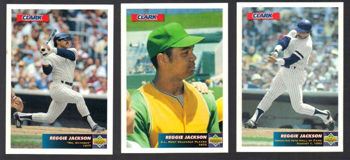 "1993 Upper Deck: Reggie Jackson ""Reggie!"" Baseball Cards by Clark"