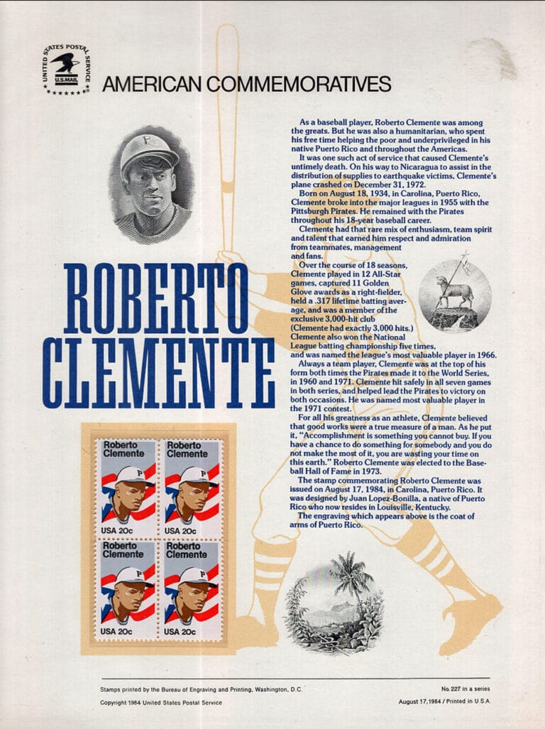 Roberto Clemente American Commemoratives Stamps