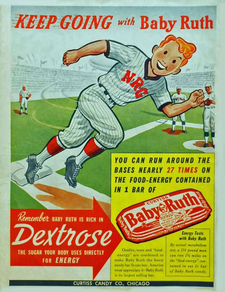 Baby Ruth Candy Bar Print Ad by Curtiss