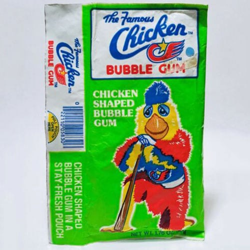 The Famous Chicken Bubble Gum – San Diego Padres Mascot