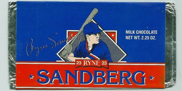 Ryne Sandberg Chocolate Candy Bar by Chris Candies