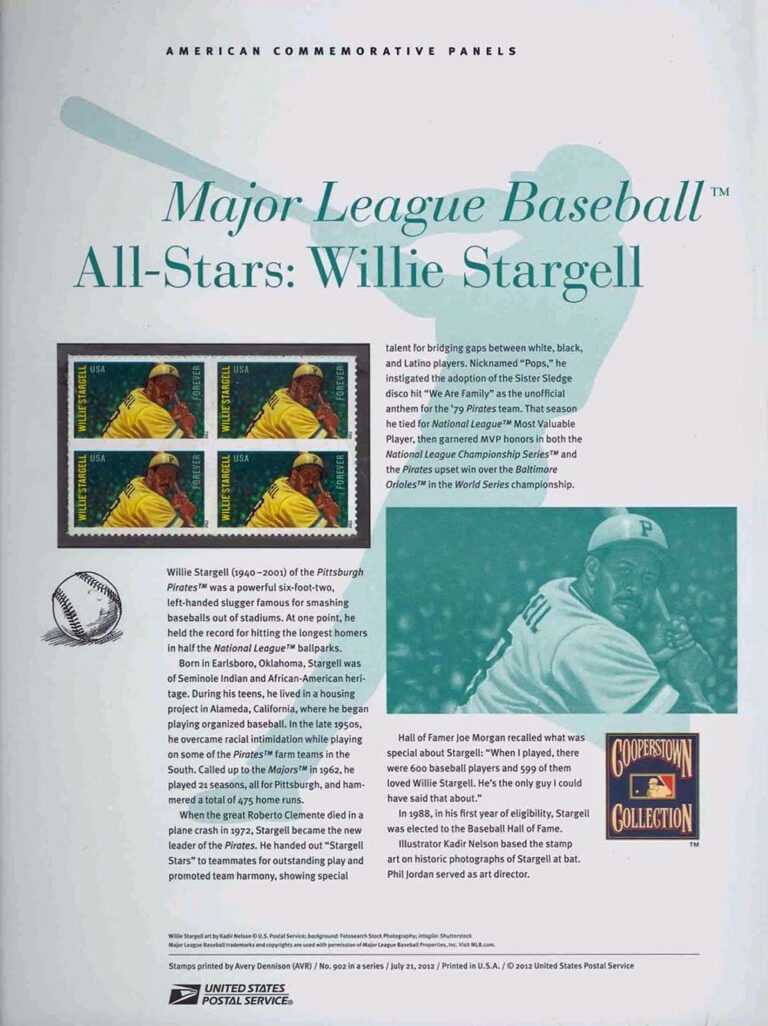 MLB All-Stars: Willie Stargell American Commemorative Panels of Stamps