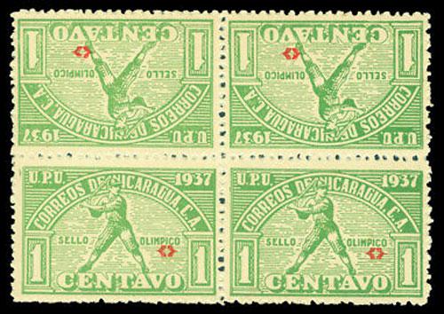 1937 Nicaragua – Central American Caribbean Games, Green Block