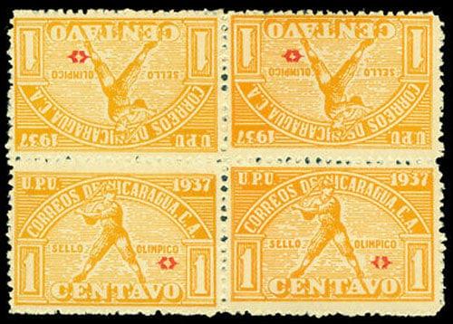 1937 Nicaragua – Central American Caribbean Games, Orange Block