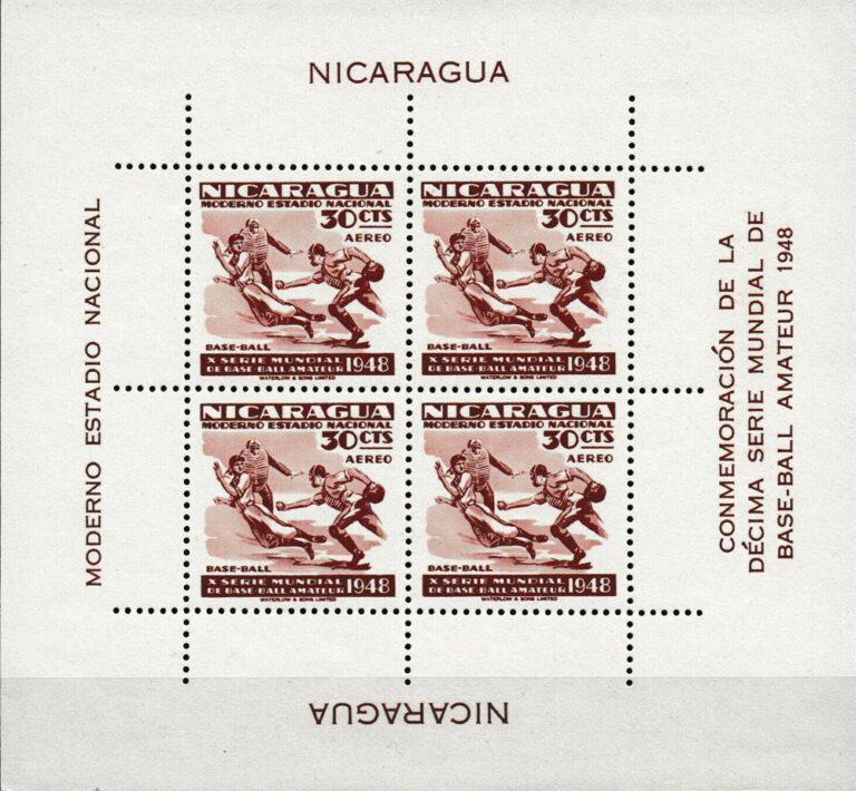 1949 Nicaragua – 10th World Series of Amateur Baseball – 30¢