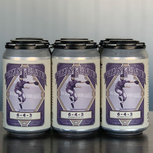 6-4-3 Belgian Style Ale Cans - Texas Leaguer Brewing