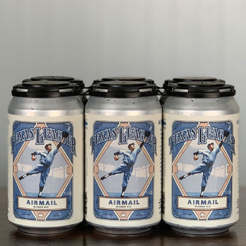 Airmail Blonde Ale Cans - Texas Leaguer Brewing