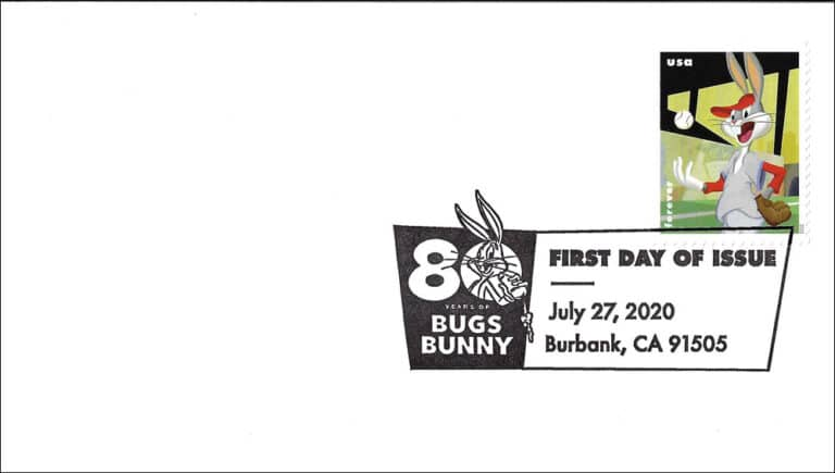 Baseball Bugs Bunny - USPS Postage Stamp FDC, 2020