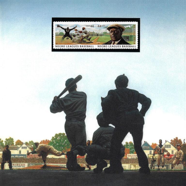 Negro Leagues Baseball USPS Stamp Artwork Card