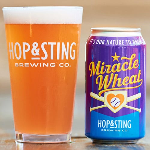Miracle Wheat Beer by Hop & Sting Brewing