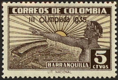 1935 Colombia – III Olimpiada, Olympic Greeting