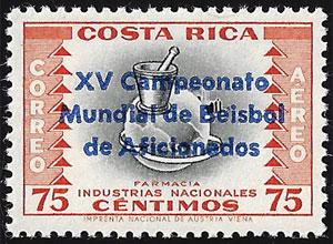 1961 Costa Rica – XV Campeonato Mundial de Beisbol de Aficionadas, 75¢