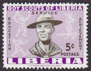 1961 Liberia – Boy Scouts of Liberia, 5¢