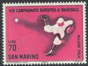 1964 San Marino – VII Campionato Europeo di Baseball, 70 lire