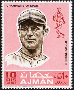 1969 Ajman – Baseball Champions, George Sisler
