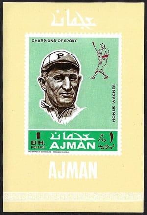 1969 Ajman – Baseball Champions Souvenir Sheet, Honus Wagner