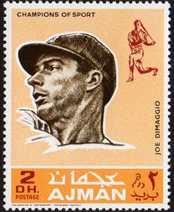 1969 Ajman – Baseball Champions, Joe DiMaggio