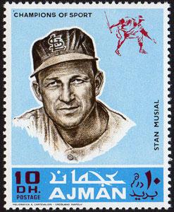 1969 Ajman – Baseball Champions, Stan Musial
