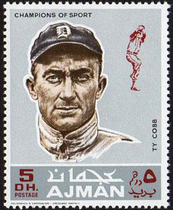 1969 Ajman – Baseball Champions, Ty Cobb