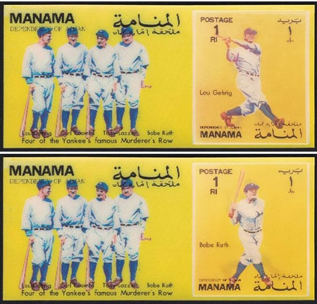 1972 Manama – Babe Ruth & Lou Gehrig in 3D