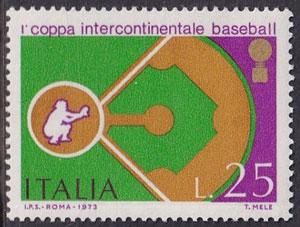 1973 Italy – 1st Coppa Intercontinentale Baseball, 25 lire