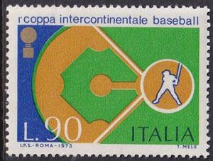 1973 Italy – 1st Coppa Intercontinentale Baseball, 90 lire