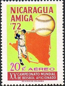 1973 Nicaragua – XX Campeonato Mundial de Beisbol Aficionado, 20¢
