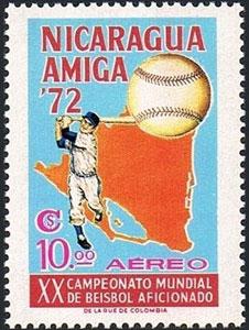 1973 Nicaragua – XX Campeonato Mundial de Beisbol Aficionado, $10