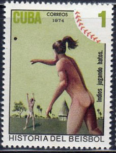 1974 Cuba – History of Baseball, Indians Playing Baseball