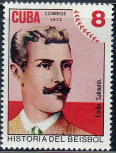 1974 Cuba – History of Baseball, Emilio Sabourin with Cuba's First Pro League