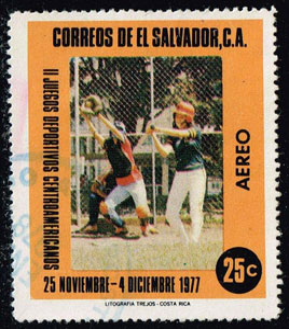 1977 El Salvador – II Juegos Deportivos Centroamericanos, softball