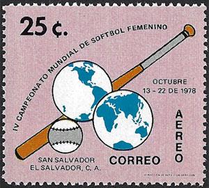 1978 El Salvador – IV Campeonato Mundial de Softbol Feminino – 25¢