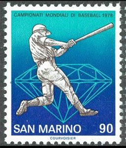 1978 San Marino – 25th Baseball World Cup, 90 Lire